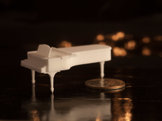 1:48 Concert Grand Piano in White Strong & Flexible