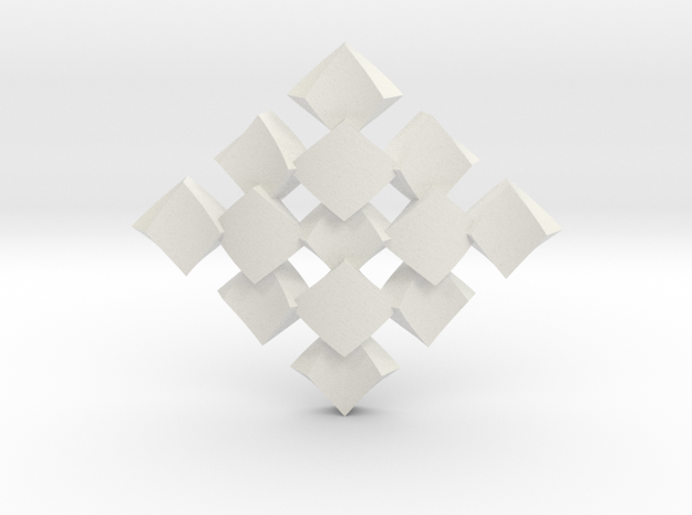 pendant twisted squares 1 3d printed