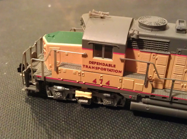 8 No. Re-Railers Type 2 Truck Mount N Scale 1:160 in Smooth Fine Detail Plastic