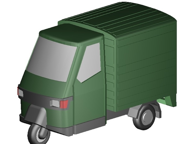 Piaggio Ape 50 (Z-Scale 1:220) in Frosted Ultra Detail