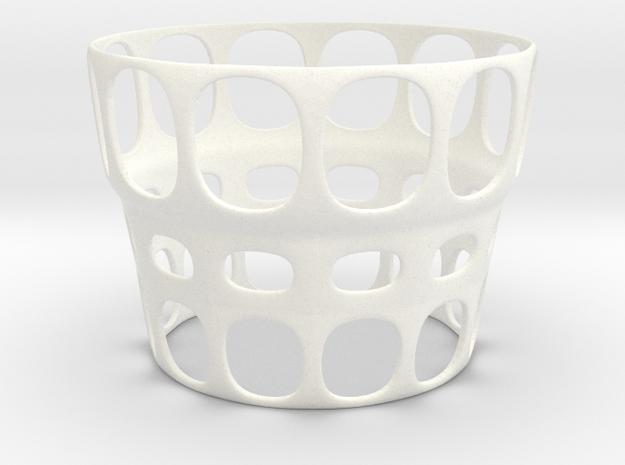 Eggcup Big Hole in White Processed Versatile Plastic