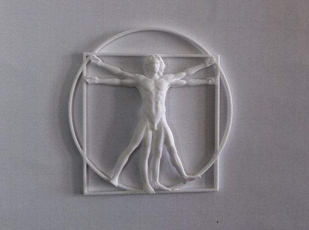 Vitruvian Man Flat  in White Natural Versatile Plastic