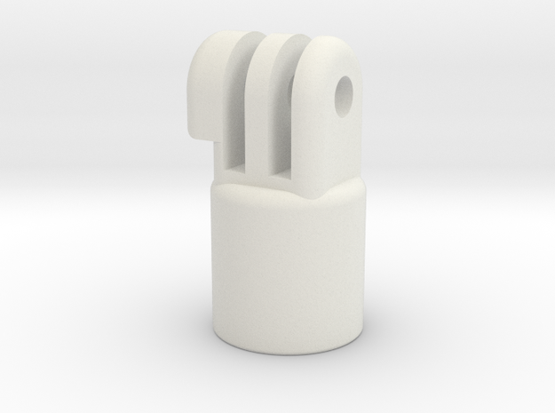 Painters Pole Threaded Mount in White Natural Versatile Plastic