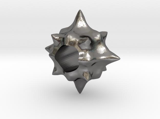 Pollen European Charm Bracelet Bead in Polished Nickel Steel
