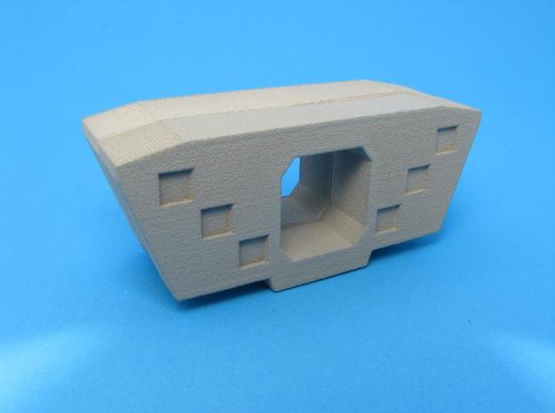 HO/1:87 Precast concrete bridge segment fill (wide in White Natural Versatile Plastic