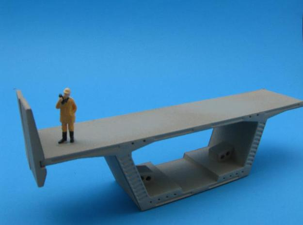 HO/1:87 Precast concrete bridge side barrierx16 3d printed diorama example with figure and parts A&B (not included)