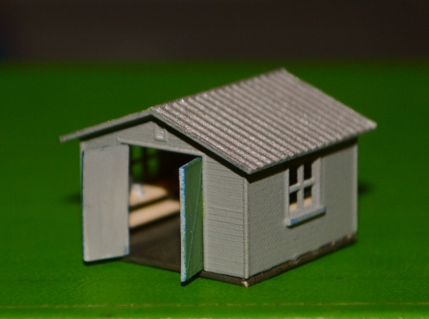N-Scale Backyard Shed (Revised) in Smooth Fine Detail Plastic