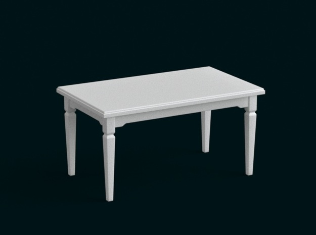 1:39 Scale Model - Table 11 in White Natural Versatile Plastic