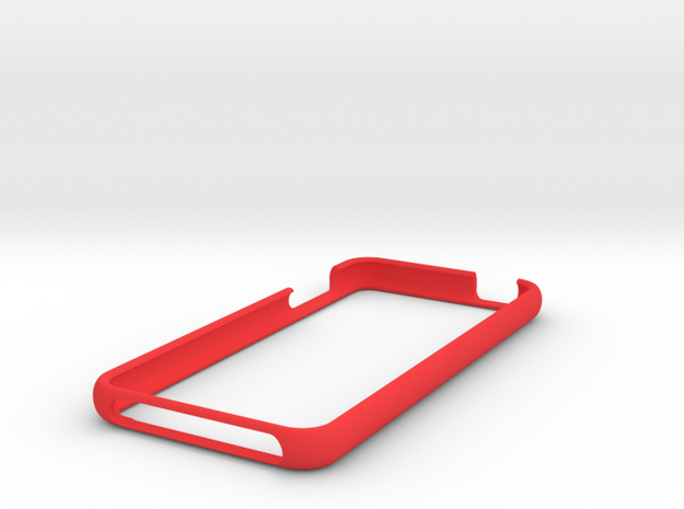 IPod Touch Bumper in Red Processed Versatile Plastic