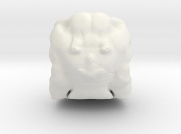Loki head in White Strong & Flexible