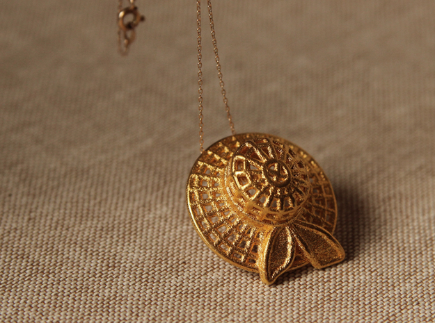 """Summer time"" pendant in 14k Gold Plated Brass"