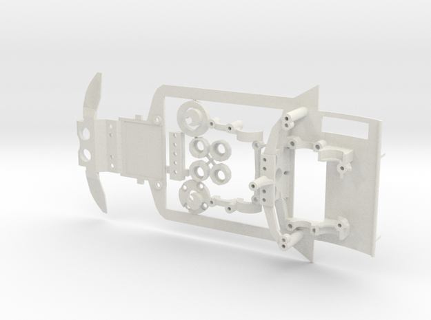 Mini-z subchassis v6 for Honda HSV in White Natural Versatile Plastic
