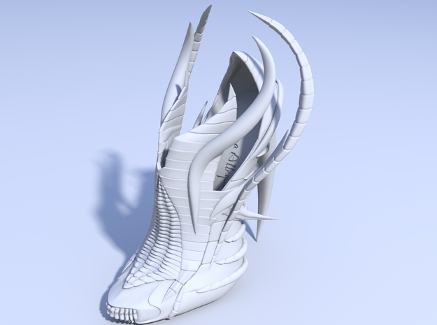 Exoskeleton Shoe - Full Size 3d printed Render 1