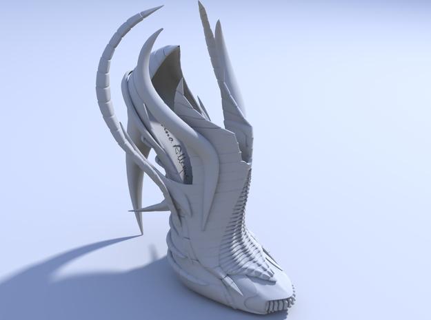 Janina Alleyne - Exoskeleton Shoe (Top) 3d printed Render 1