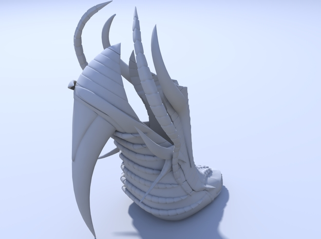 Janina Alleyne - Exoskeleton Shoe (Top) 3d printed Render 4
