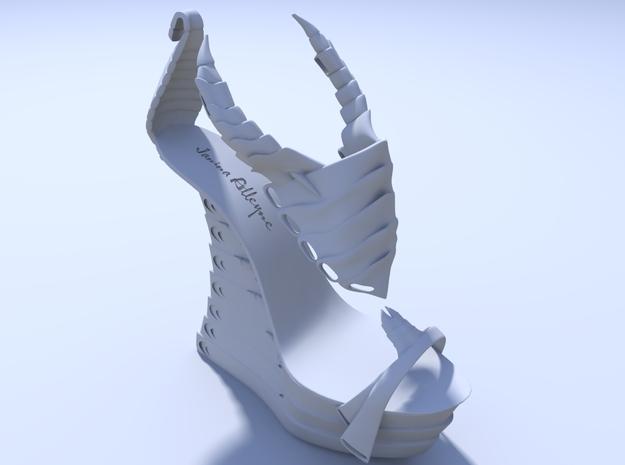 Janina Alleyne - Scorpion Shoe (Top) 3d printed Render 2