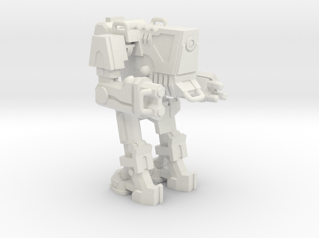 1/87 Scale Wofenstain Boss Guard Robot in White Natural Versatile Plastic
