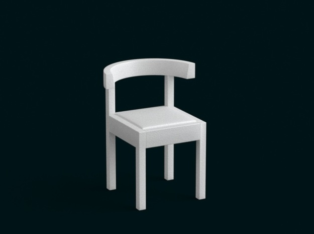 1:39 Scale Model - Chair 04 in White Strong & Flexible