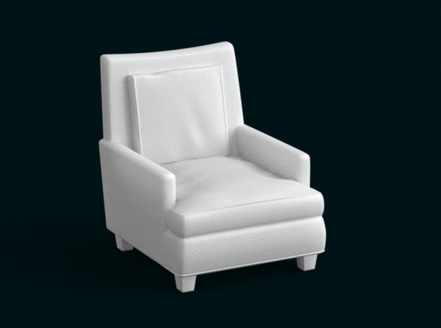 1:39 Scale Model - ArmChair 06 in White Natural Versatile Plastic