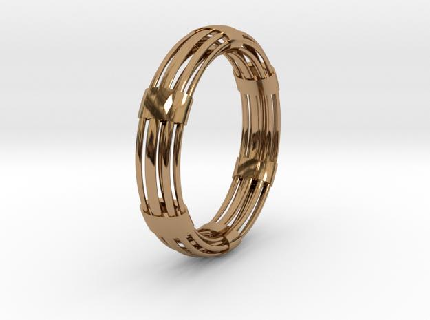 CircuitoOcho in Polished Brass