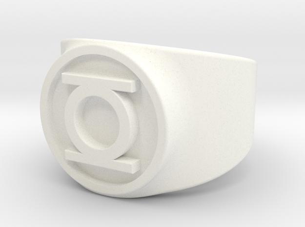 Original Hal GL Ring Sz 8 in White Processed Versatile Plastic
