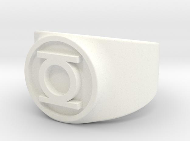 Original Hal GL Ring Sz 11 in White Processed Versatile Plastic