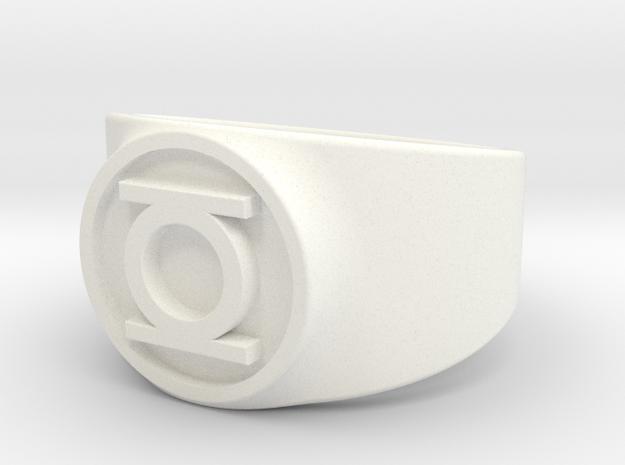 Original Hal GL Ring Sz 13 in White Processed Versatile Plastic