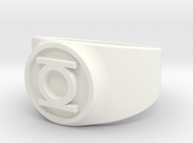 Original Hal GL Ring Sz 14 in White Processed Versatile Plastic