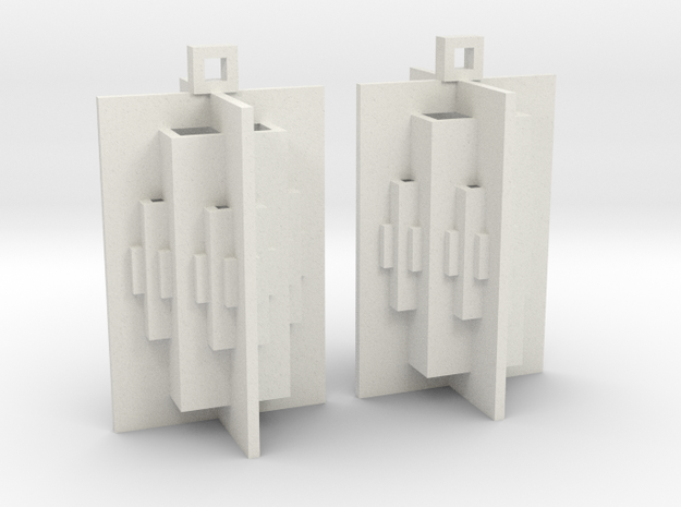 Solid 360 Pop Up Earrings in White Natural Versatile Plastic
