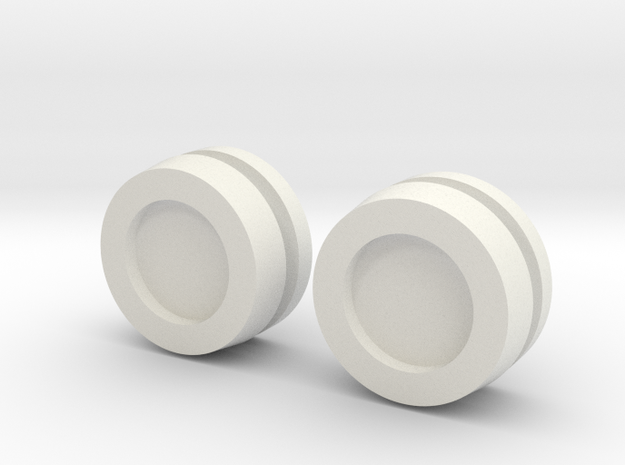 Thruster Cap Pairs Assembled in White Strong & Flexible