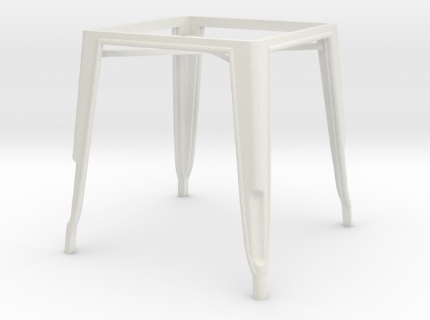 1:24 Pauchard Dining Table Frame in White Natural Versatile Plastic