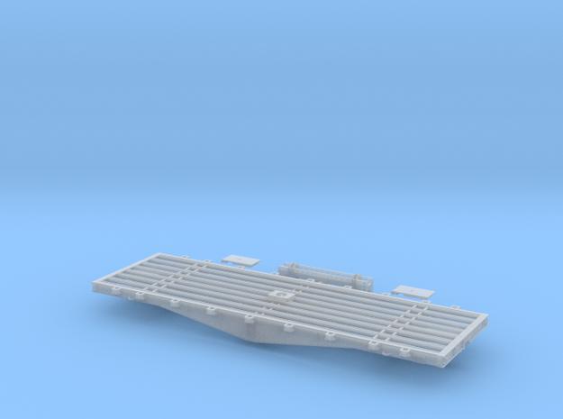 PRR F22 Flat Car w/Bridge in S Scale