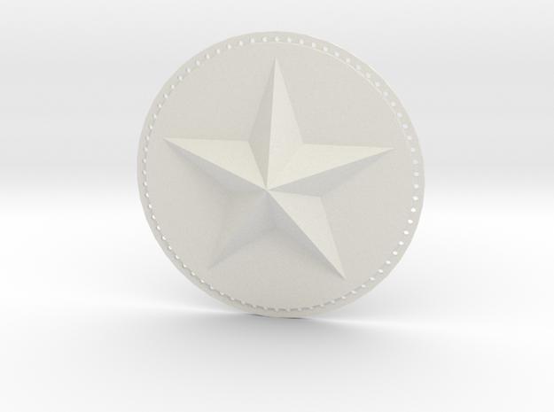 Captain America Upper Arm Star V2 in White Strong & Flexible