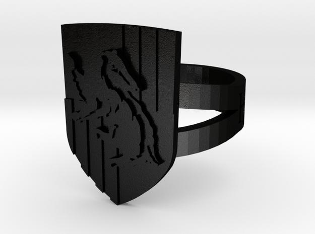 Hufflepuff Ring Size 6 3d printed