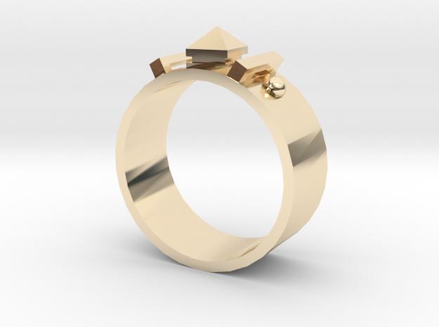 Edwardian Guard Rings - Sz. 9 in 14K Yellow Gold
