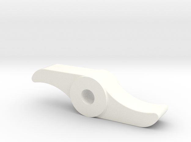 "D&RG Brake Pawl - 2.5"" scale in White Processed Versatile Plastic"