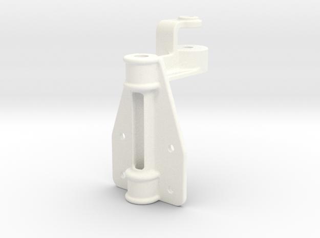 "D&RG Upper Brake Mast Bracket - 2.5"" scale in White Processed Versatile Plastic"