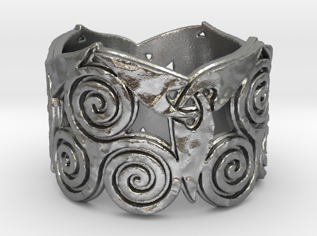 Triskelion & Triquetra ring Ring Size 7 in Natural Silver