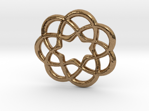 7x Knots in Raw Brass