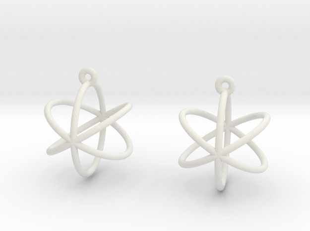 Orbit Earrings in White Natural Versatile Plastic