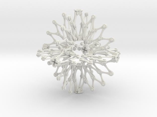Hoberman Sphere (Large) in White Natural Versatile Plastic