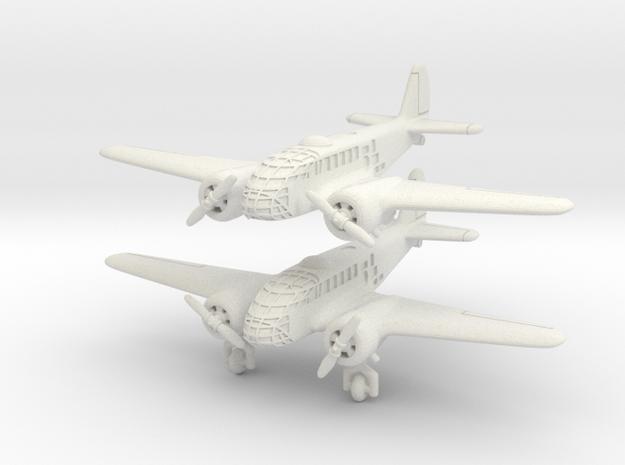 Caproni Ca.311 (2 airplanes) 6mm 1/285 in White Natural Versatile Plastic
