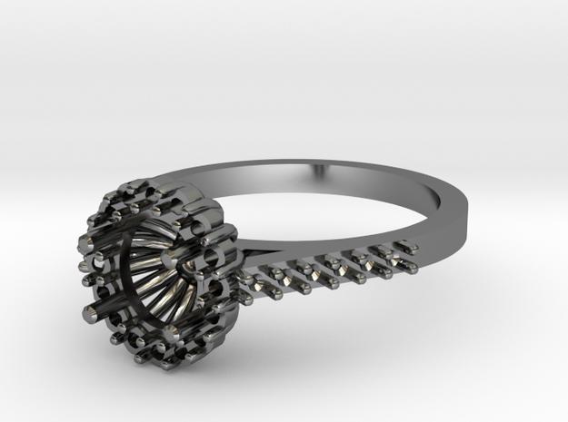 Tube Halo Engagement Ring