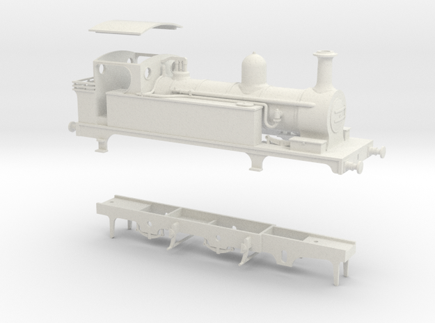 North Staffordshire Railway B Class tank in White Natural Versatile Plastic
