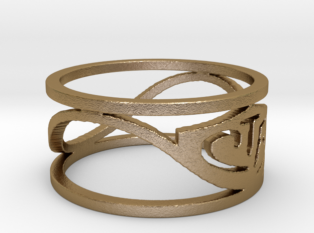 CTR Wired (Size 5.75 x 8.8 mm) in Polished Gold Steel