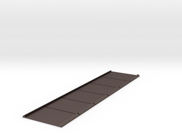 Unilux Plisse screen door bottom strip guides. in Polished Bronzed Silver Steel