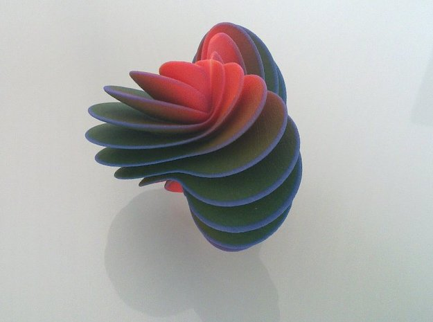 Spiral Fan 3d printed Side view