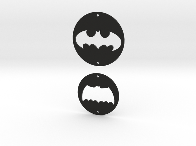 Batman Logo Charms 2 in Black Strong & Flexible