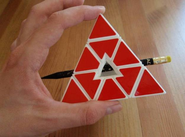 Void Pyraminx in White Processed Versatile Plastic