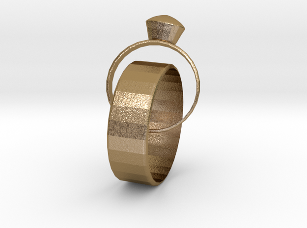 Eternal Marriage Rings in Polished Gold Steel